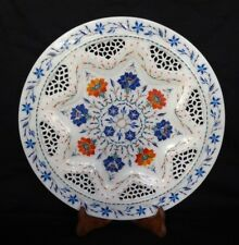 Marble Inlay Plate floral Pietra Dura Handmade Home Decor & Gifts