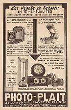 Y9244 Apparecchi fotografici PHOTO-PLAIT - Pubblicità d'epoca - 1931 Old advert
