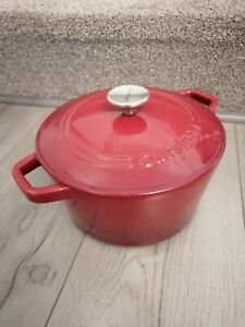 Cuisinart CI630-30 Red Cast Iron 3 Quart/2.9 L Dutch Oven Casserole Dish Pot