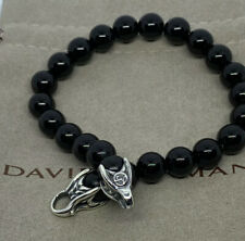 David Yurman Men`s Black Onyx Spiritual Bead Bracelet 8.5""