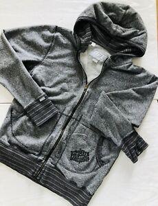 UFC- Ultimate Fighting Championship- Hooded Sweatshirt Grey/ Black- Ladies L