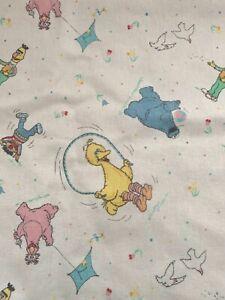 Vintage 80's Sesame Street Baby Diaper Changing Pad 25x35 Big Bird Burt Earnie