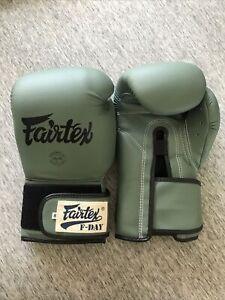 "Fairtex Muay Thai Boxing F-Day Limited Edition Gloves ""BGV11"" Never Worn"