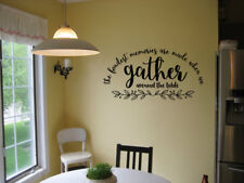 THE FONDEST MEMORIES KITCHEN DINING ROOM STICKER VINYL WALL ART DECAL LETTERING