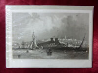 Antique engraving of RYDE, ISLE OF WIGHT c1830 Very rare art print (Cropped #2)