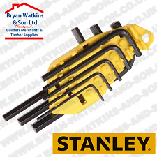Stanley Hexagon Allen Key Set of 8 Imperial (1/16 - 1/4in) Hi Tensile FREE Case