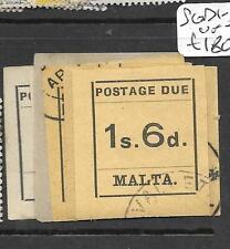MALTA (P2801B) POSTAGE DUE SET SG D1-10  VFU