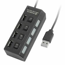 Hub Sdoppiatore Usb 4 Porte Con Interruttori On off Multipresa Pc hsb