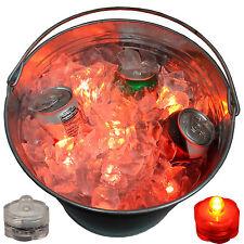 ORANGE LED Beverage Tub Submersible Lights Rave Party Fun Wild Novelty Set of 12