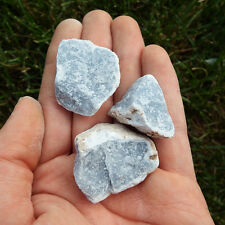 Angelite/Celestite Crystal (5 TOTAL) Natural raw Rough rocks Natural raw stone