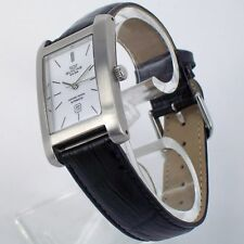 Glycine Watch Automatic Analog Stainless Steel Leather Bracelet Date 3786.11