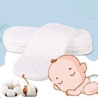 10Pcs Reusable Cotton Baby Cloth Diaper Newborn Nappy Liners Insert 3 Layers Set