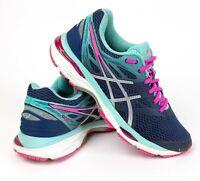 ASICS Women's Gel Cumulus 18 Indigo Blue Silver Pink Running Shoes T6C8N Size 7