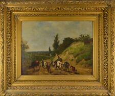 Alexander Joseph DAIWAILLE (1818-1888) Troupeau de vaches École hollandaise HSP