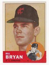 BILL BRYAN 1963 Topps Baseball  RC # 236 Kansas City Athletics Rookie Ex Plus