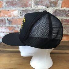Vintage Moose Lodge Hat Coshocton OH Black Trucker Cap Foam Mesh Snapback H8