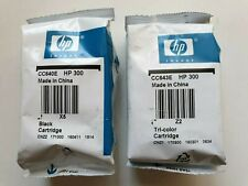 HP 300 Black & Colour Genuine Ink Cartridges CC640EE CC643EE HP300