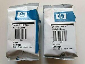 HP 300 Black & Colour Genuine Ink Cartridges CC640EE CC643EE HP300 CN637EE