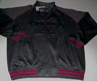 Houston Texans Full Zip Track Jacket 2xl Charcoal Gray Letterman Style NFL