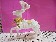 Vintage Christmas Reindeer Figurine Old! White - Glass?