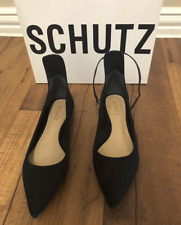 New with box Schultz Black Flat pointy Shoes  With Strap Missing size 7.5 Read