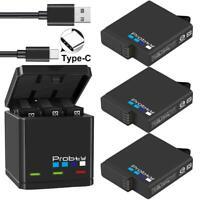 GoPro Hero 7 6 5 Black Triple Battery Charger Camera HD Portable FREE SHIPING