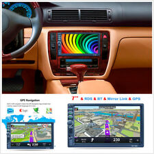 7'' Touch Screen Car Bluetooth Stereo Head Unit MP5 Player GPS Navigation + Map