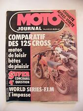 Moto Journal Janvier 1980 N°445 125 Cross