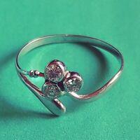 Exklusiv Jugendstil Ring Echt 585 Weissgold Originale Diamanten