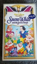 Walt Disney Snow White and the Seven Dwarfs VHS tape