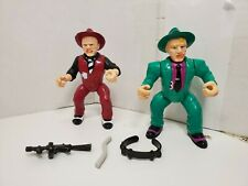 Vintage Dick Tracy Lot of 2 Figures The Brow Shoulders With Weapons Accessories
