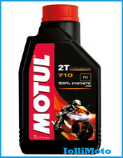 MOTUL 710 2T Olio Lubrificante 100% Sintetico per Motori 2T Antifumo Antiusura