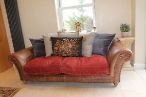 Tetrad westwood brown aniline leather sofa £2650 new