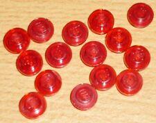 Lego 15 runde Steine 1 x 1 in transparent rot