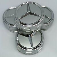 Mercedes Nabendeckel Silber 75mm AMG Edition Radkappen Felgendeckel NEU