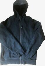 LULULEMON Mens Coast Hoodie Jacket Coat Black size L Thick Cotton Fleece