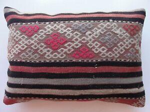 "Kilim Pillow Cover,14"" x 20"", Tribal Cushion, Throw Pillow, Kelim Kissen"