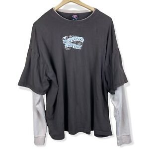 Vintage West Coast Choppers Motorcycle Faded Long Sleeve T Shirt 3XL Brown Tan