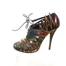 PIERRE HARDY Lace Up Cage Multicoloured Suede Heels, UK 5 US 8 EU 38