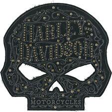 EM146304 - Harley-Davidson® Studded Ornate Willie G Skull Large Patch