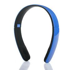 New WIRELESS BLUETOOTH STEREO HEADSET BLUE