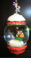 RARE Disney Bradford Winnie the Pooh Eeyore Snowglobe Ornament Ceramic Porcelain