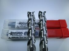 """LOT ( 2 PCS ) ACCUPRO 09653825 SOLID CARBIDE 1/2"""" END MILL LONG 4"""" MILLING TOOLS"""
