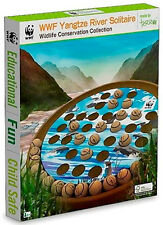 *NEW IN BOX* World Wildlife Fund WWF Wooden Yangtze River Solitaire