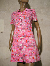 CHIC VINTAGE ROBE 60s VTG DRESS MOD GRAPHIC KLEID ABITO RETRO ANNEES 60  (36)
