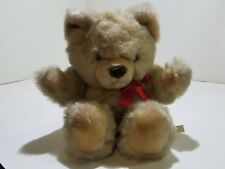 Hand Stitched Polyester Cotton Stuffed Toy Eden Stuffed Teddy Bear with Bow