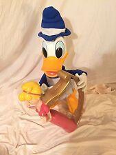 3D Donald Duck with Harp - Vintage Beanstalk Disney Store Display Prop Rare!