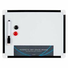 A4 WHITEBOARD PEN DRY WIPE CLEAN BOARD Kids Home Office SPONGE WIPE black white