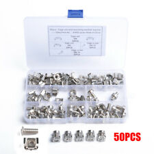 50x M6 Square Hole Hardware Cage Nuts & Mounting Screw for Server Rack & Cabinet