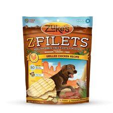 Zuke's Z-Filets Select Grain Free Dog Treat Grilled Chicken 3.25 oz